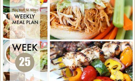 Weekly Meal Plan – Week 25