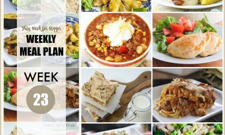 Weekly Meal Plan – Week 23