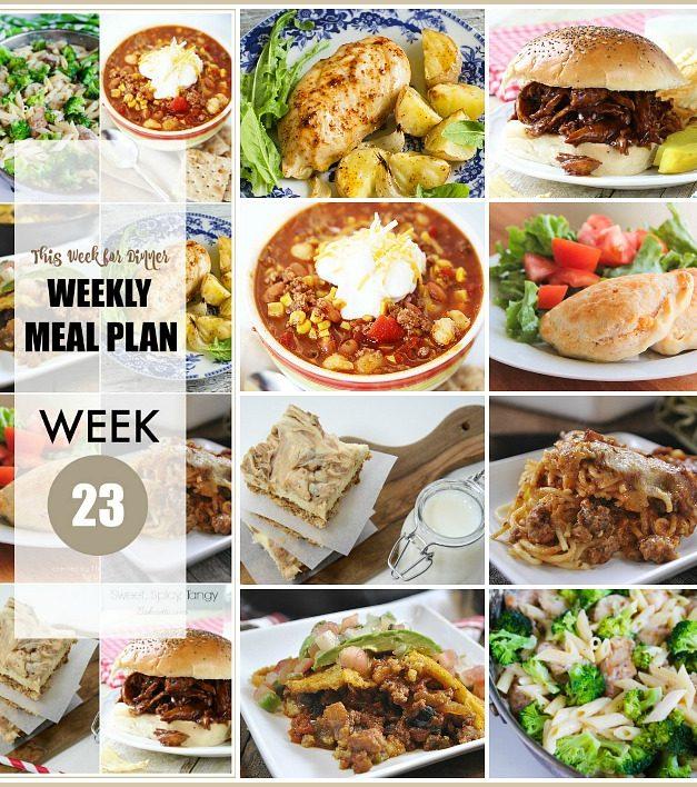 Weekly Meal Plan – Week 23