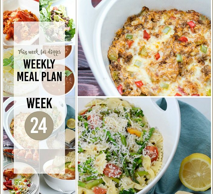 Weekly Meal Plan – Week 24