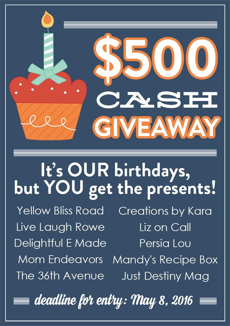 $500 CASH Giveaway 2
