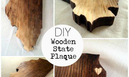 DIY Wooden State Plaque