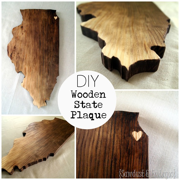 DIY Wooden State Plaque