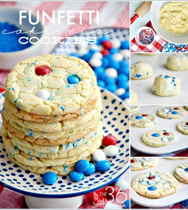 Fourth of July Cookies – Cake Mix Cookies