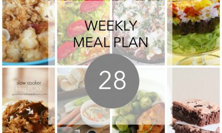 Weekly Meal Plan- Week 28