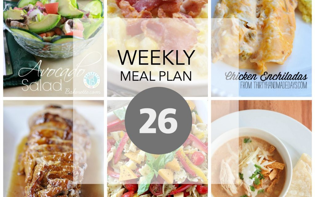 Weekly Meal Plan – Week 26