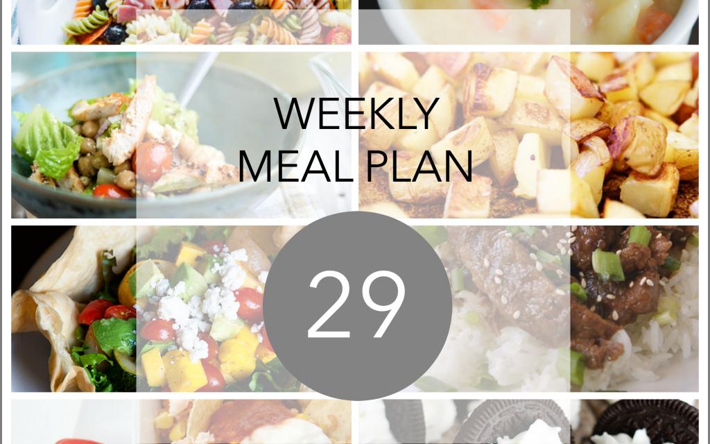 Weekly Meal Planner – Week 29