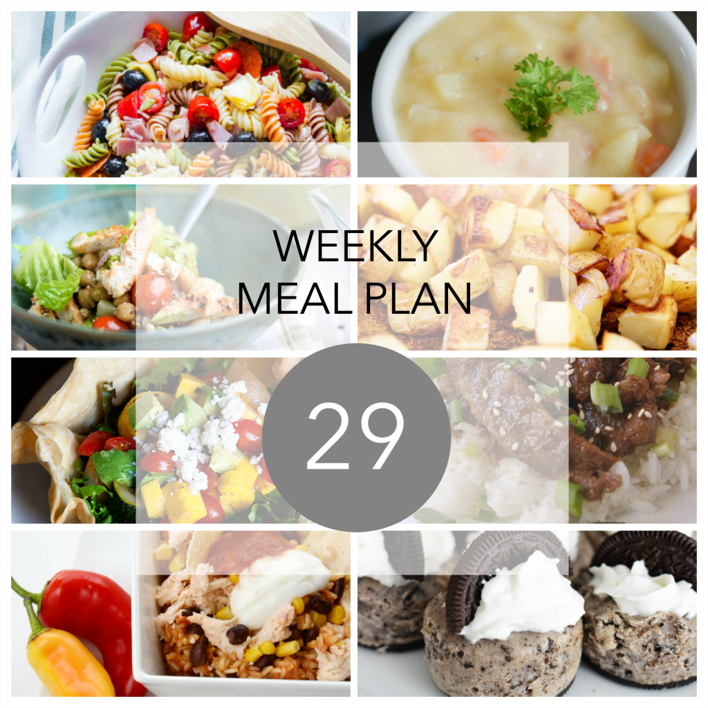 Weekly Meal Plan the36thavenue.com