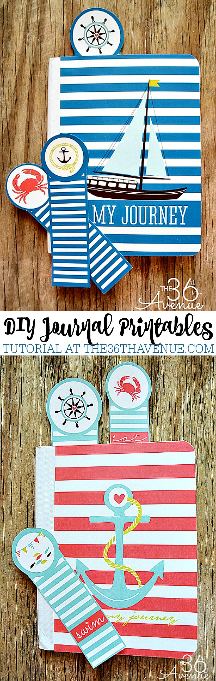 Journal and Book mark Printables - Super cute journals to keep a record of all of your summer memories and adventures!