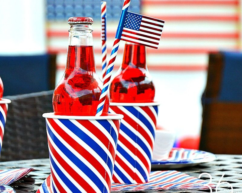 Patriotic DIY Backyard Decor