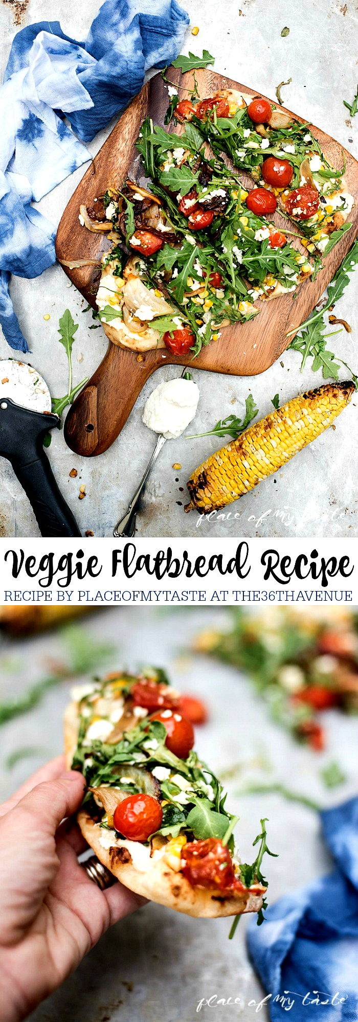 Healthy Recipes - Veggie Homemade Flatbread. Super easy and delicious main dish or appetizer.