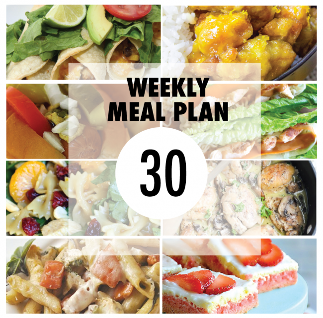 Weekly Meal Plan – Week 30