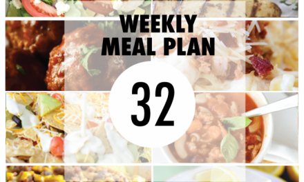 Weekly Meal Plan- Week 32
