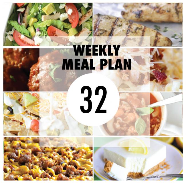 Weekly Meal Plan- Week 32