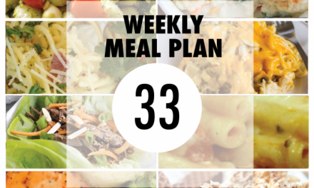 Weekly Meal Plan – Week 33