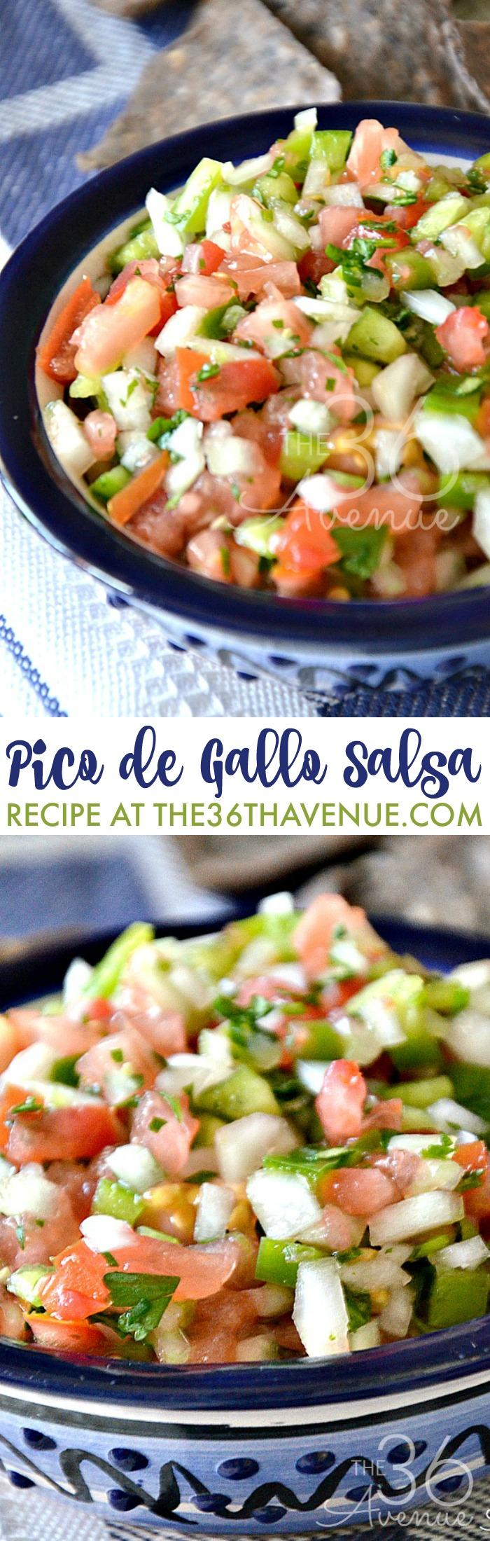 Pico de Gallo Fresh Salsa Recipe - This is the best salsa I've ever had!