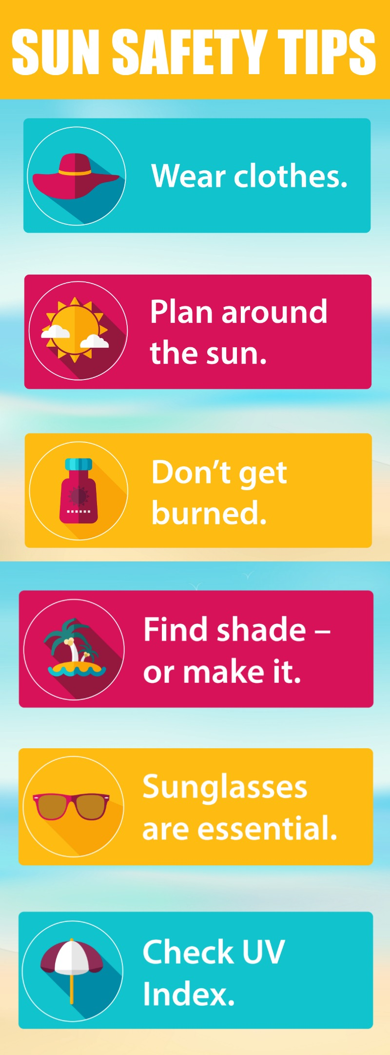 Sun Safety Tips the36thavenue.com