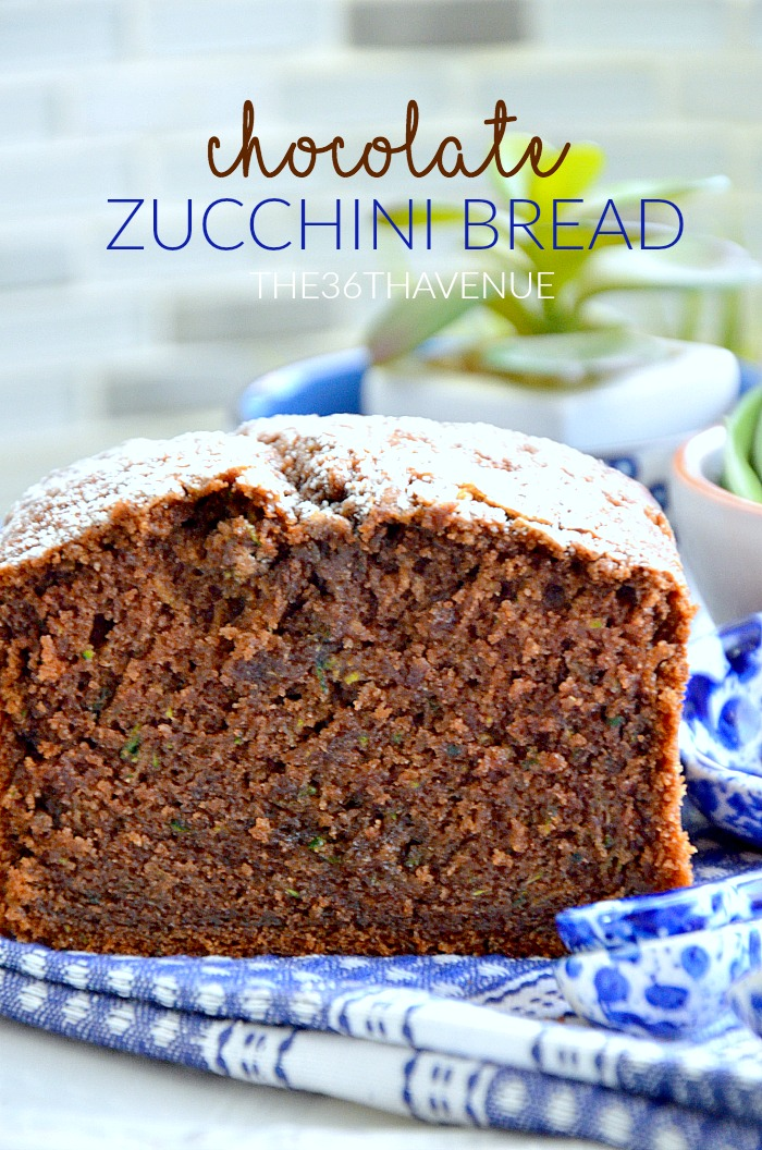 Chocolate Zucchini Bread Recipe at the36thavenue.com