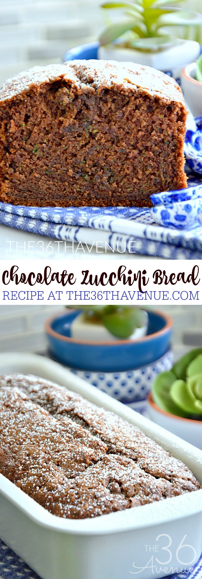 Zucchini Bread just got better with a bit of cocoa! The first time I tried this easy bread recipe I was surprised by how much my family loved this bread that has the yummy texture of a pound cake.