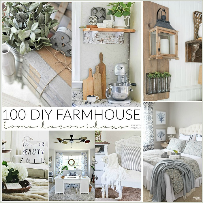 Home Diy: 100 DIY Farmhouse Home Decor Ideas