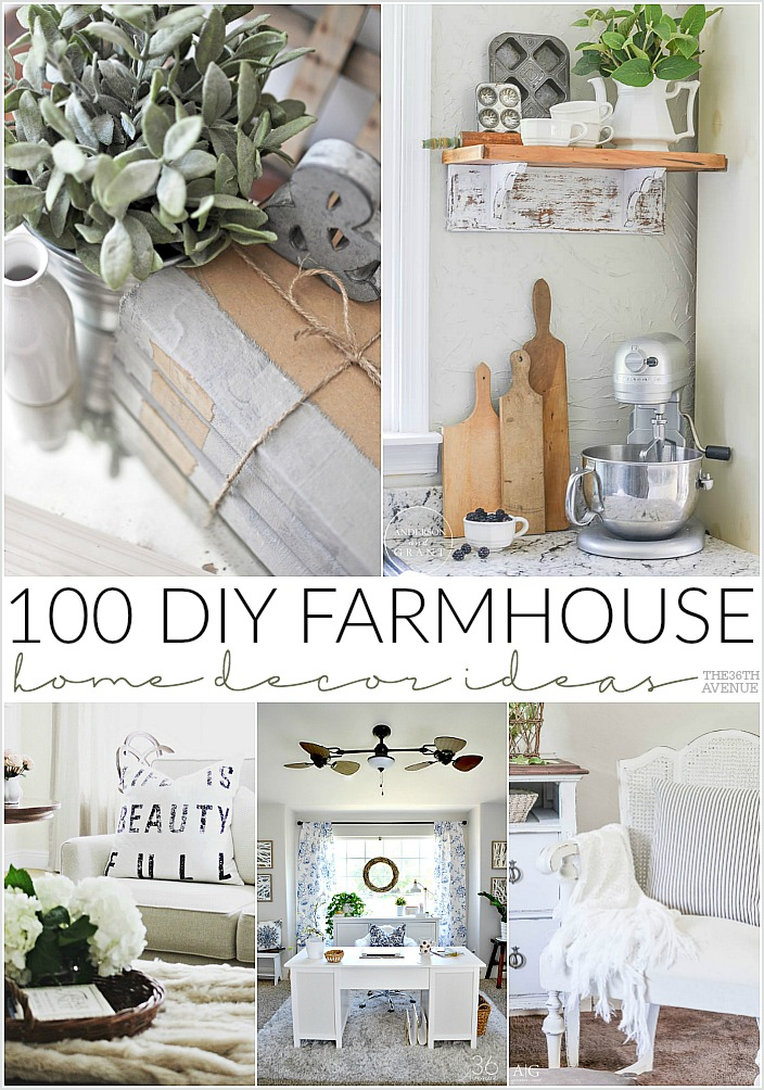 DIY Farmhouse Home Decor Ideas the36thavenue.com