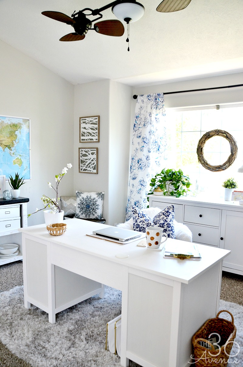 Awesome Home Office Decor   This Room Went From Dining Room To Office. So Pretty!