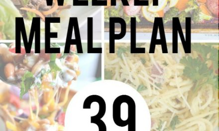 Weekly Meal Plan – Week 39