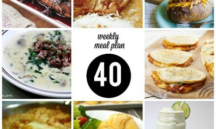 Weekly Meal Plan – Week 40