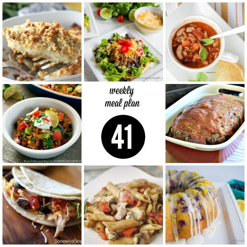 Weekly Meal Plan – Week 41