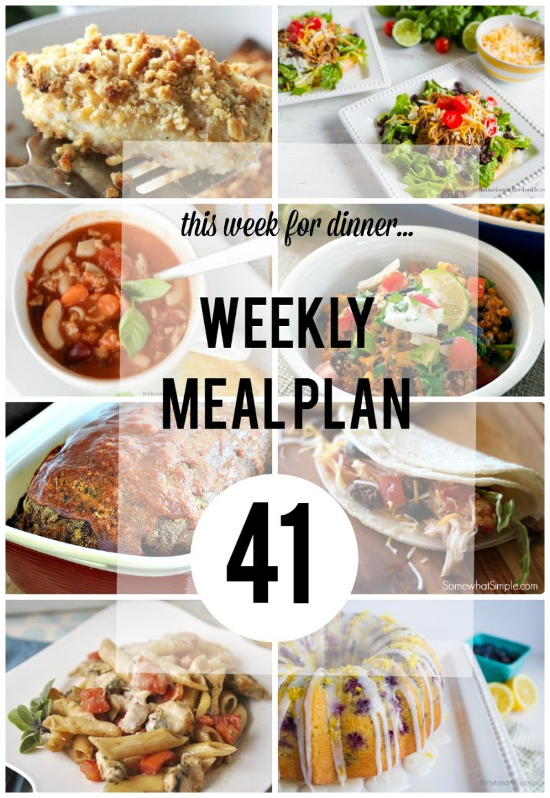 Weekly Meal Plan- Week 41 at the36thavenue.com