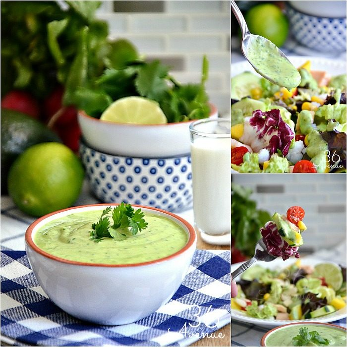 Try this delicious oil free Avocado Cilantro Dressing made with all natural ingredients and so easy to make.