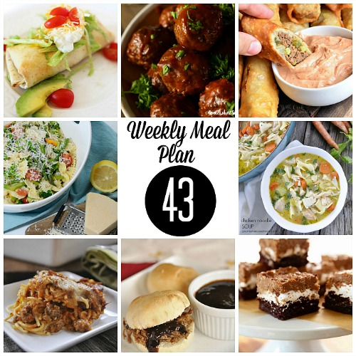 Weekly Meal Plan – Week 43