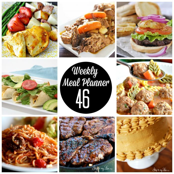 Weekly Meal Plan - These recipes are delicious and easy to make.