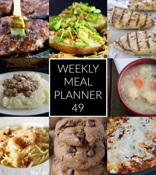 Weekly Meal Planner – Week 49