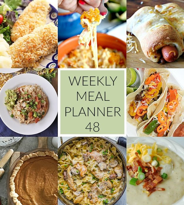 Weekly Meal Plan – Week 48