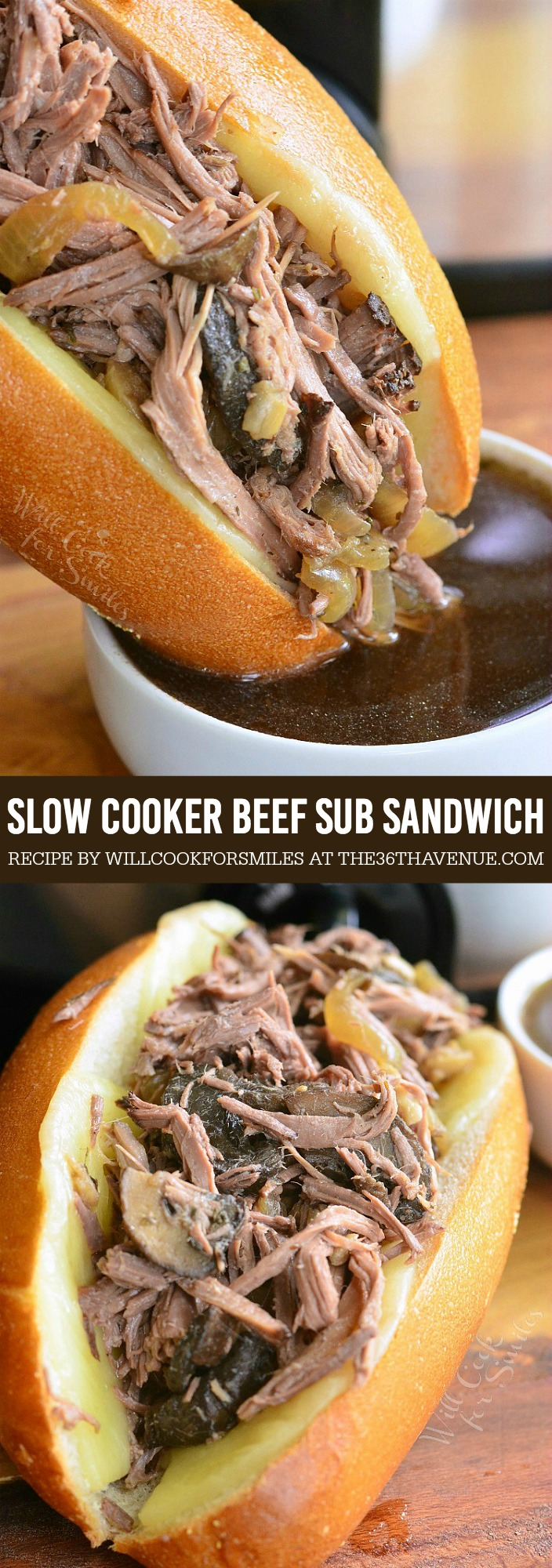 This delicious Slow Cooker Beef Sub Sandwich is made with tender, and flavorful beef made in the Crock Pot. This beef is slow cooked with Italian herbs, mushrooms, and onions. It's perfect as a nice sub sandwich and as a main dish.
