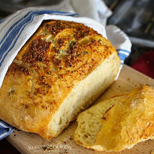 Crusty Italian Parmesan Bread Recipe