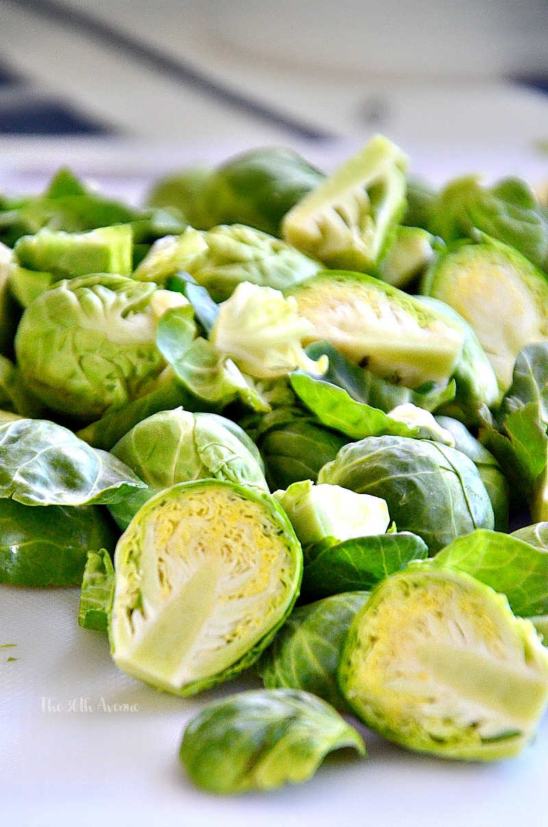 Balsamic Honey Glazed Brussels Sprouts Recipe. Pin it now and make it later.