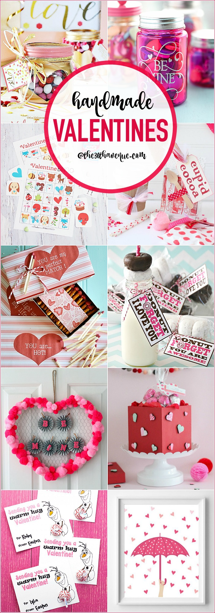 Adorable Handmade Valentines and DIY gift ideas for Valentine's Day. Cute handmade gifts  to share the love and show appreciation.