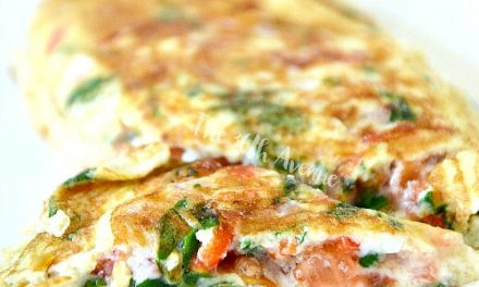 Ham Vegetable Omelet Recipe