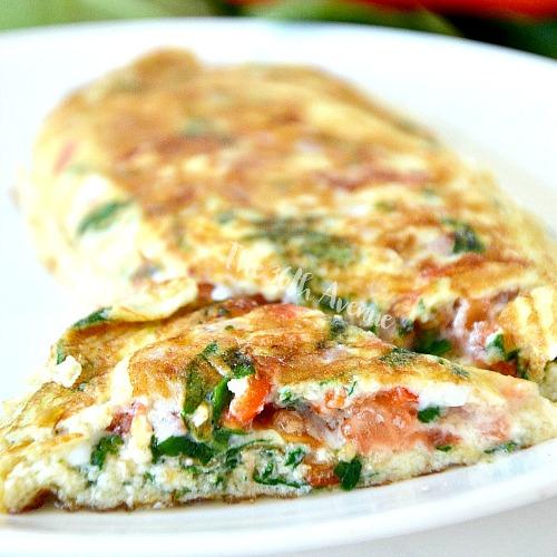 Ham Vegetable Omelet Recipe