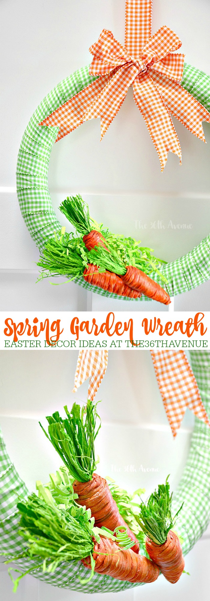 DIY Easter Wreath Tutorial at the36thavenue.com