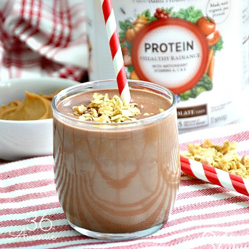 Chocolate Peanut Butter Protein Smoothie - The 36th AVENUE
