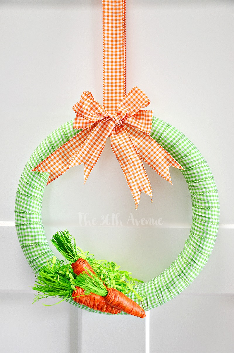 This adorable DIY Spring Wreath will make your Easter Decor fun and festive.