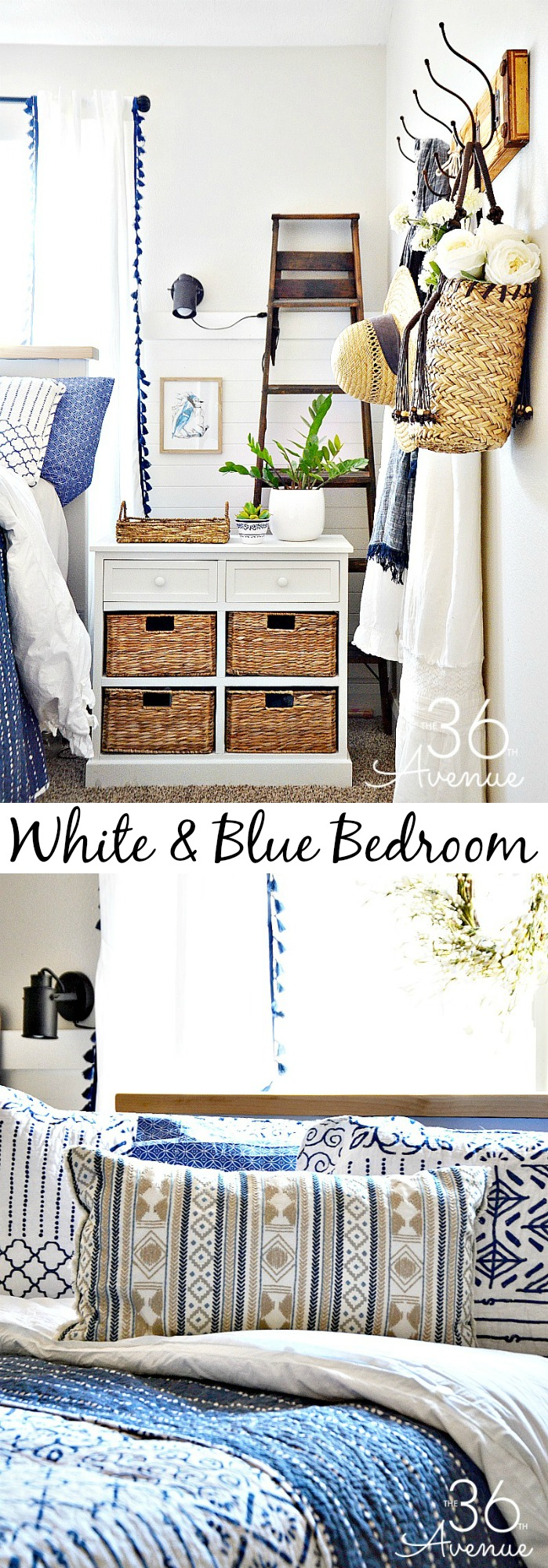 Bedroom Decor Ideas - White and blue Bedroom Decor.