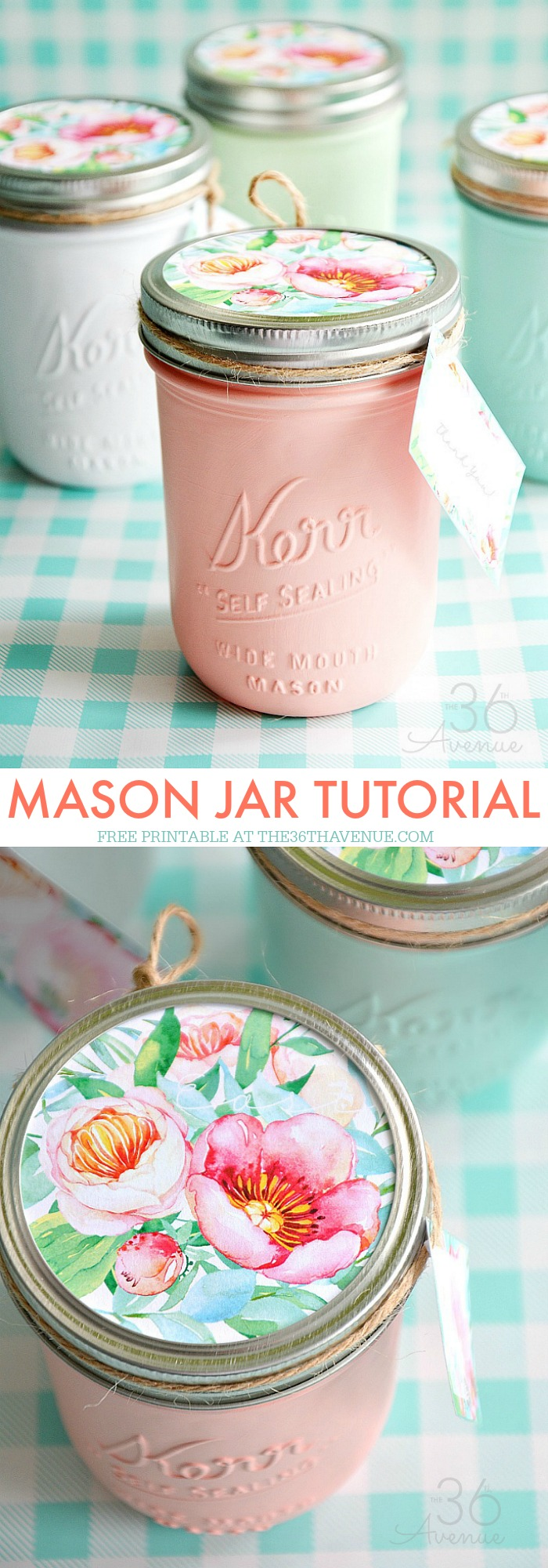 Mason Jar Printable by the36thavenue.com