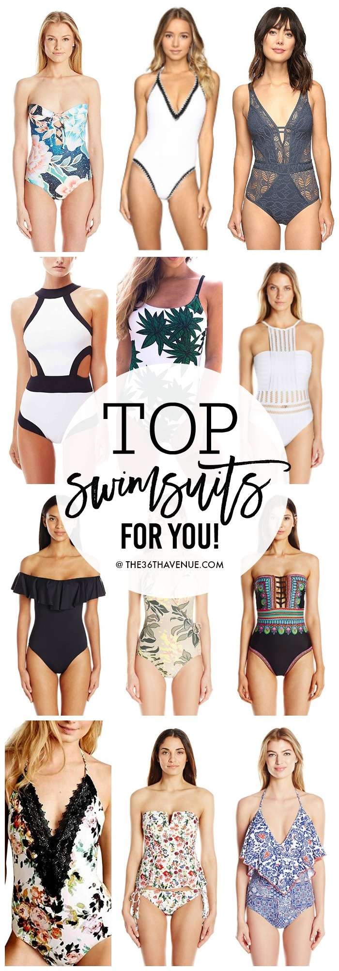 Swimsuits -Tankinis - Bandinis. Loving these trendy  swimsuits and beautifully designed swimwear with modern lines and awesome prints.