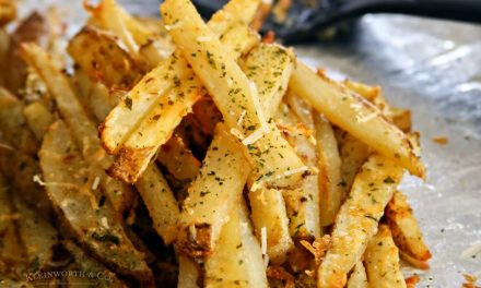 Baked Garlic Parmesan Steak Fries