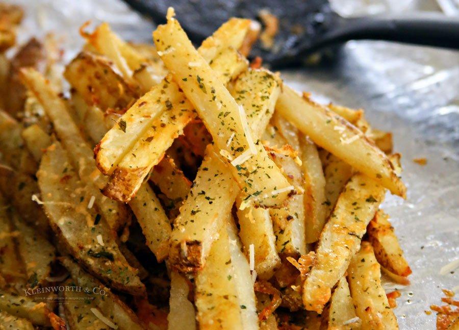 Baked Garlic Parmesan Steak Fries