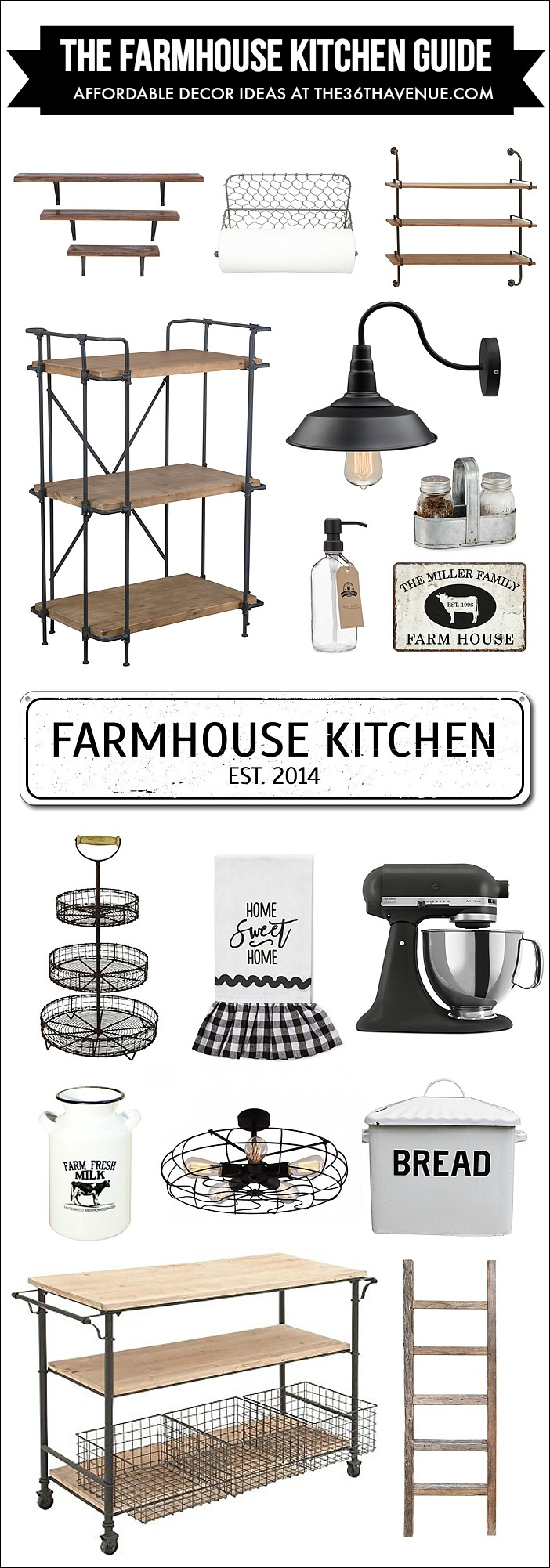 Kitchen-Farmhouse-Decor-ideas by the36thavenue.com